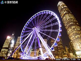 摩天轮新地标可饱览维多利亚港景色(图/香港旅游局 提供)