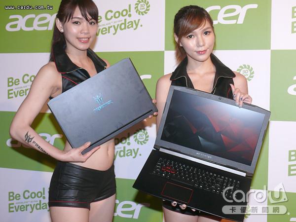 宏碁發表15.6吋電競筆電Predator Triton 700、17.3吋的中階電競筆電Predator Helios 300(圖/卡優新聞網)