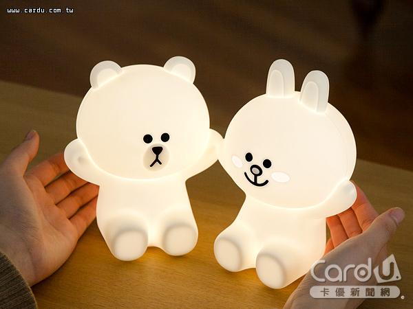 第3季起申辦LINE Pay聯名卡刷滿36萬元送超「萌」的「熊兔抱抱小夜燈」陪伴入眠(圖/中國信託 提供)