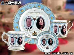 威廉與凱特婚禮瓷器,由Aynsley負責設計(圖/古典玫瑰園  提供