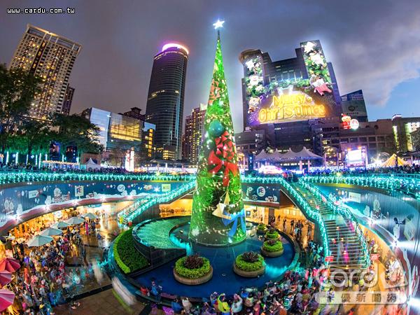 「新北市歡樂耶誕城」將於11月16日起一連開城47天,環景3D光雕秀是必看亮點(圖/新北市政府 提供)