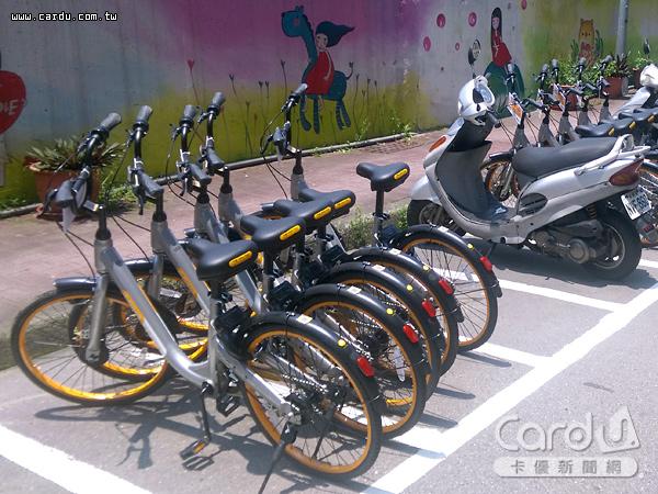 無樁共享單車oBike占用機車停車格引發爭議,而雙北市政府的處理方式卻不同調(圖/新北市政府 提供)
